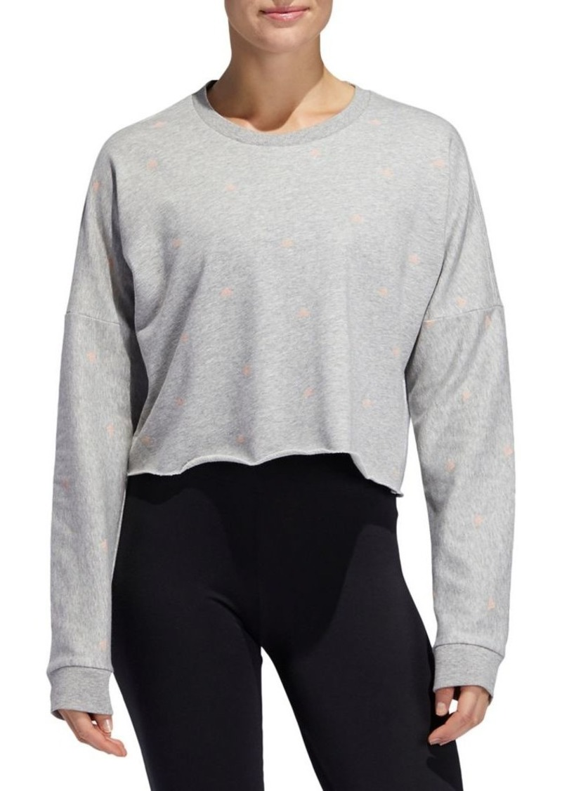 Adidas Printed French Terry Cropped Sweatshirt