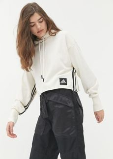 adidas Recycled Cotton Cropped Hoodie Sweatshirt