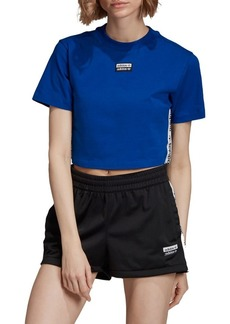 Adidas Ruched Cropped Tee
