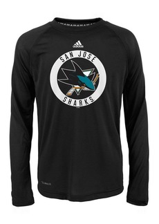 adidas San Jose Sharks Practice Graphic Long Sleeve T-Shirt, Big Boys (8-20)