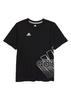 adidas Shadow Badge of Sport Wrap T-Shirt (Toddler Boys & Little Boys)