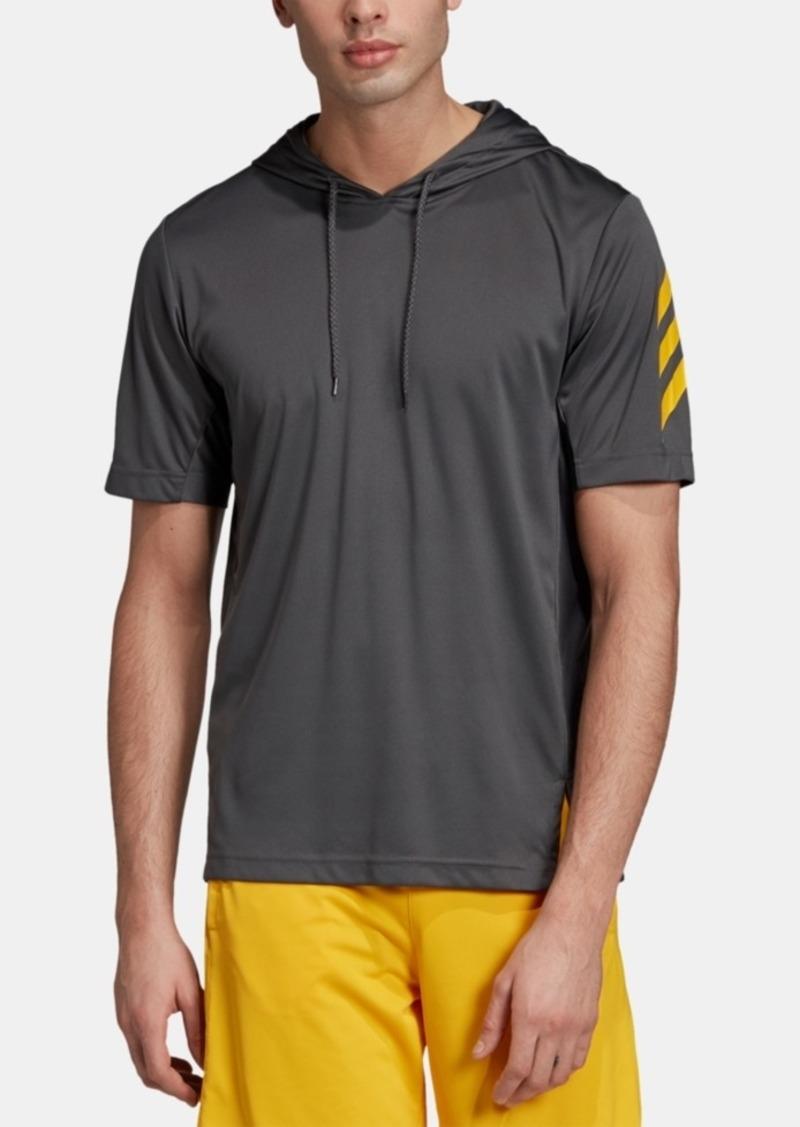 adidas Short-Sleeve Basketball Hoodie