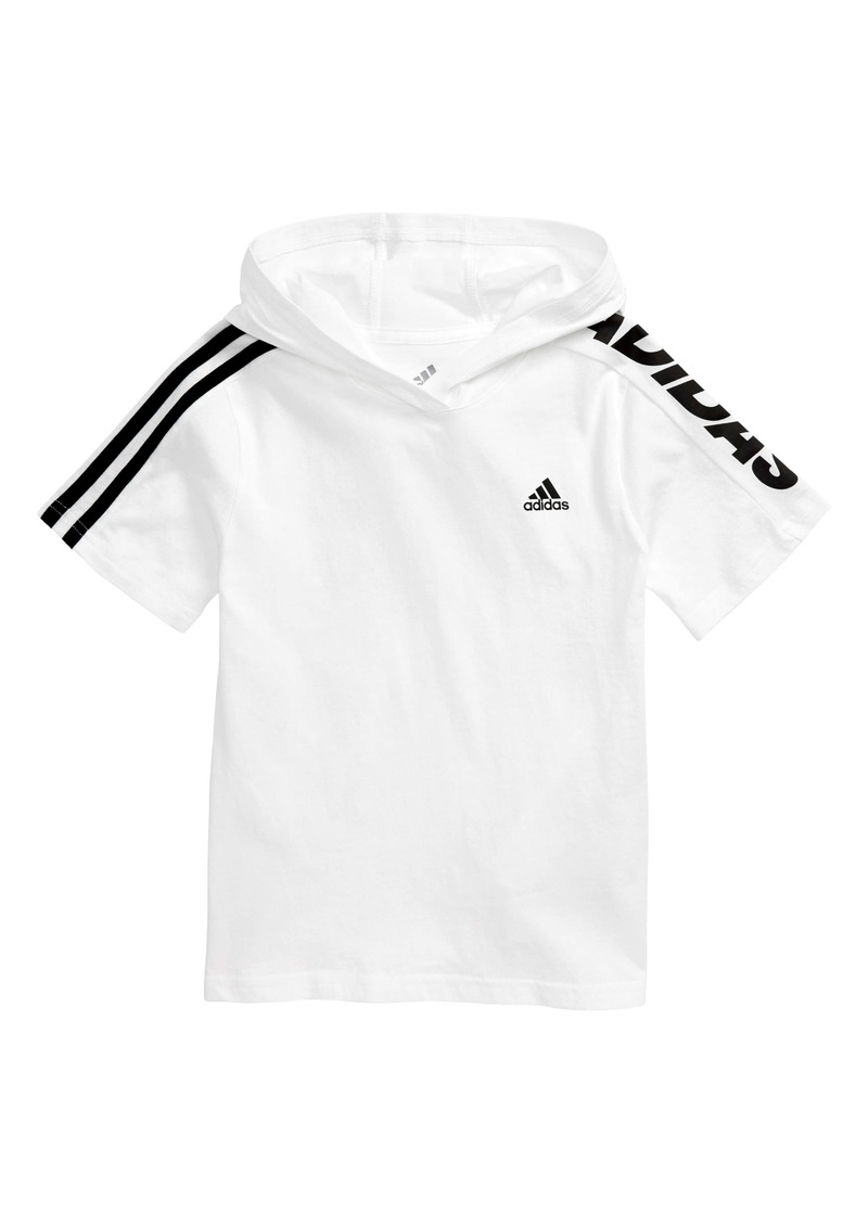 adidas Short Sleeve Hooded Pullover (Toddler & Little Boy)
