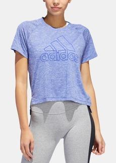 adidas Sport 2 Street Logo Step-Hem T-Shirt