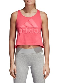 Adidas Sport ID Cropped Cotton Tank Top