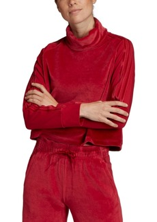 adidas Women's Sport Id Velour Funnel-Neck Cropped Top