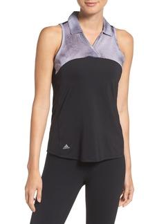 adidas sport mesh sleeveless polo