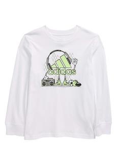 adidas Kids' Sports Jamz Long Sleeve Graphic Tee (Toddler & Little Boy)