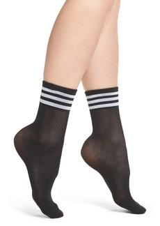 adidas Stripe Mesh Ankle Socks