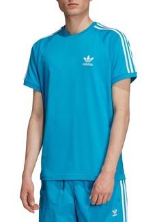 Adidas Striped Logo Cotton Tee
