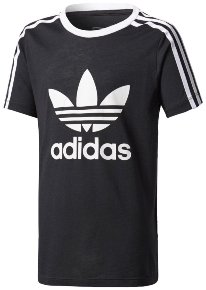 bab413bc Adidas adidas Originals Striped Sleeve Logo T-Shirt, Big Girls (7-16 ...