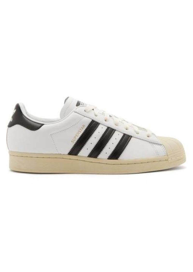 Adidas Superstar vintage leather trainers
