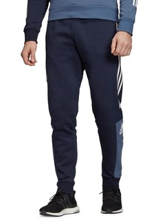 Adidas Tapered-Fit 3-Stripes Cotton-Blend Fleece Pants
