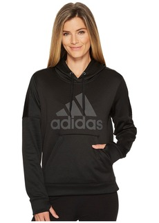 Adidas Team Issue Fleece Pullover Logo Hoodie
