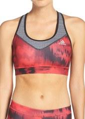 adidas 'Techfit - Brushed Glitch' Climalite® Sports Bra