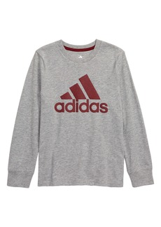 adidas Textured Logo T-Shirt (Little Boys)
