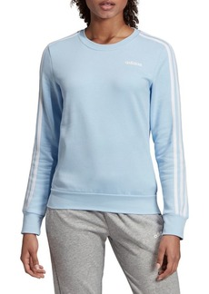 Adidas Three-Stripe Crewneck Fleece Sweatshirt