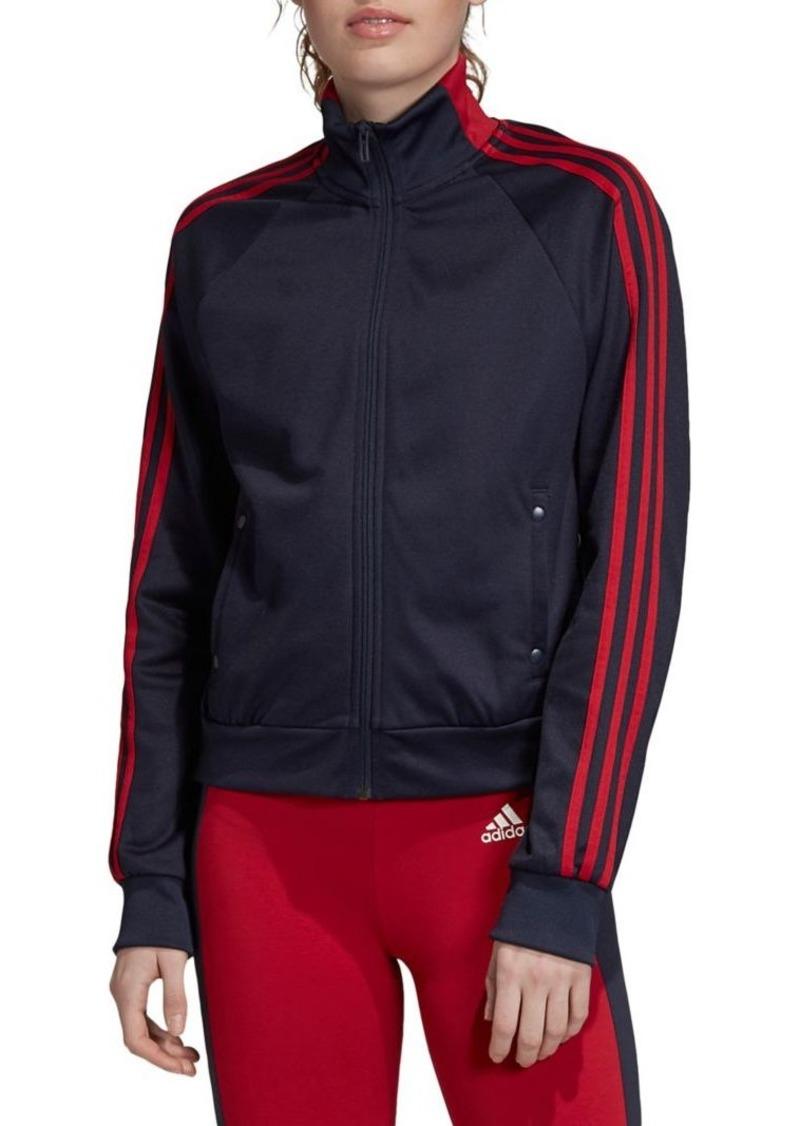 Adidas Three-Stripe Zipper-Front Track Jacket
