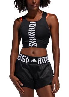 adidas Women's Tko Cross-Back Cropped Tank Top