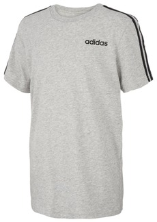 adidas Little Boys Three-Stripe Cotton T-Shirt