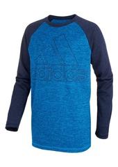 adidas Toddler Boys Climalite Raglan Logo-Print Shirt
