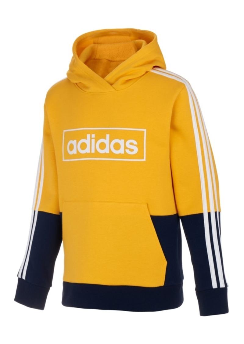 adidas Little Boys Colorblocked Logo Hoodie