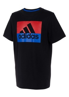 adidas Toddler Boys Colorblocked Logo-Print Cotton T-Shirt