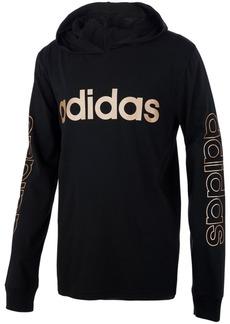 adidas Little Boys Cotton Logo-Print Hooded T-Shirt
