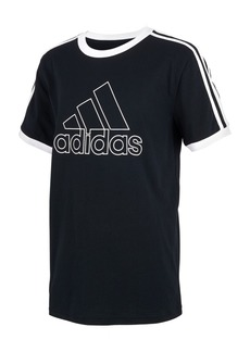 adidas Little Boys Cotton Ringer T-Shirt