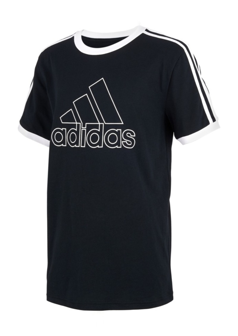 adidas Little Boys Cotton Ringer T-Shirt