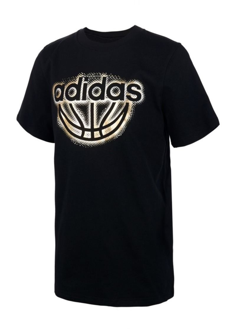 adidas Little Boys Logo-Print Cotton T-Shirt