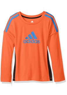 adidas Toddler Boys' Performance Logo Long Sleeve Tee Shirt Solar Red
