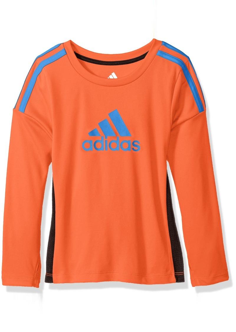adidas Toddler Boys' Performance Logo Long Sleeve Tee Shirt Solar Red