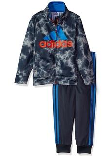 Adidas Toddler Boys' Smoke Screen Jacket Set Dark Grey