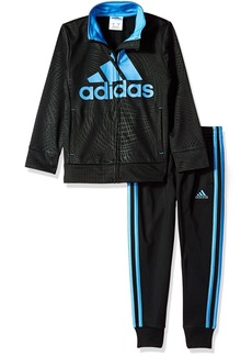 adidas Toddler Boys' Tricot Jacket and Pant Set Black