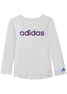adidas Little Girls Logo-Graphic Shirt