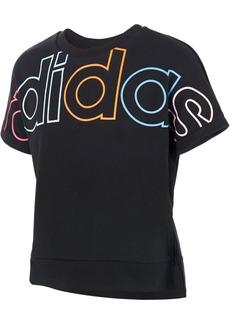 adidas Little Girls Logo-Print Cotton T-Shirt