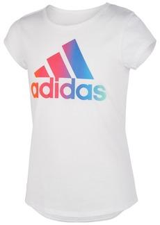 adidas Toddler Girls Rainbow Logo-Print T-Shirt