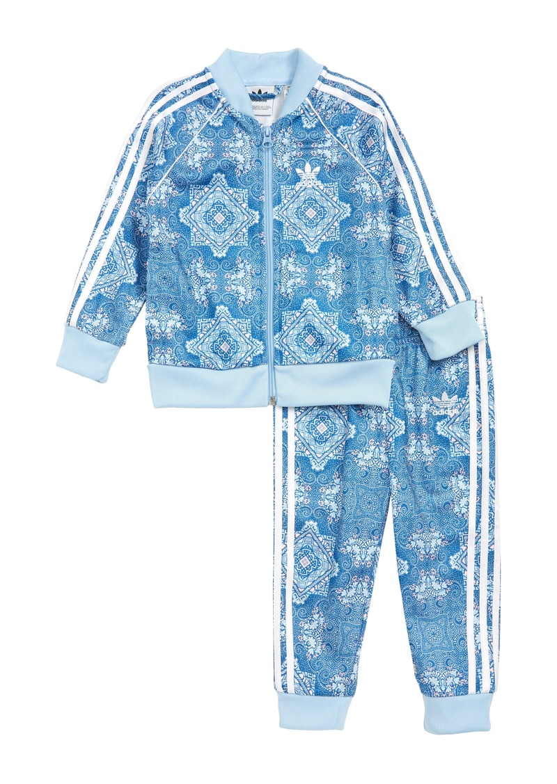 adidas Track Jacket & Sweatpants Set (Toddler Girls)