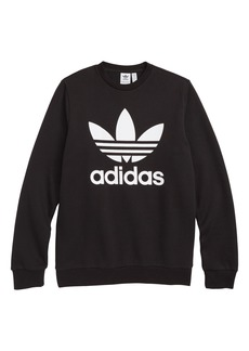 adidas Trefoil Logo Sweatshirt (Big Girls)