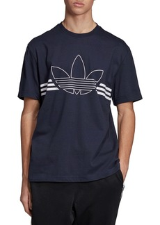 adidas Trefoil Outline Graphic T-Shirt (Regular Retail Price: $30)