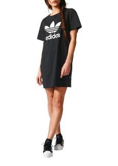 Adidas Trefoil Printed Cotton T-Shirt Dress
