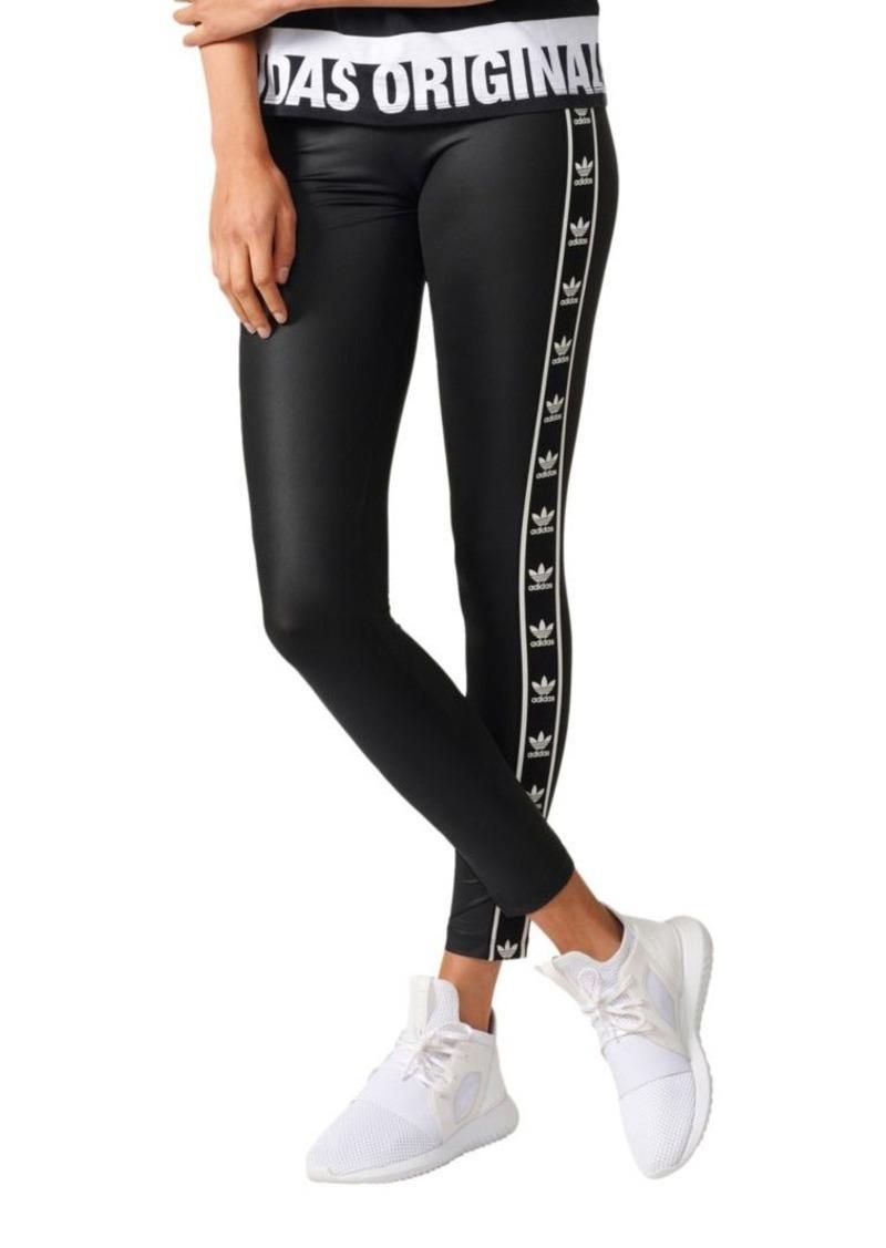 5b894545cebc24 Adidas Adidas Trefoil Tape Jersey Leggings | Casual Pants