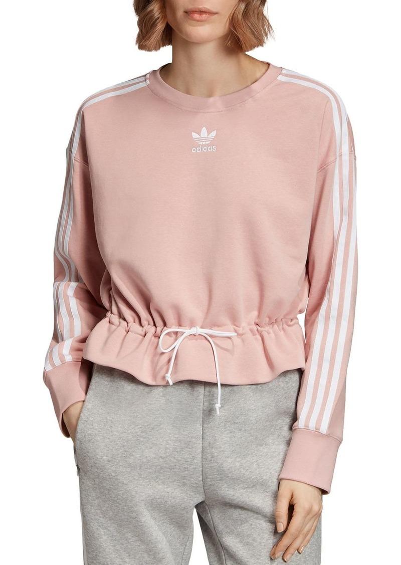 Adidas Triple Stripe Drawstring Sweatshirt