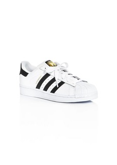 Adidas Unisex Superstar Lace Up Sneakers - Big Kid