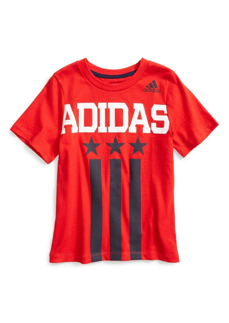 Adidas Adidas Usa Graphic Cotton T Shirt Toddler Boys
