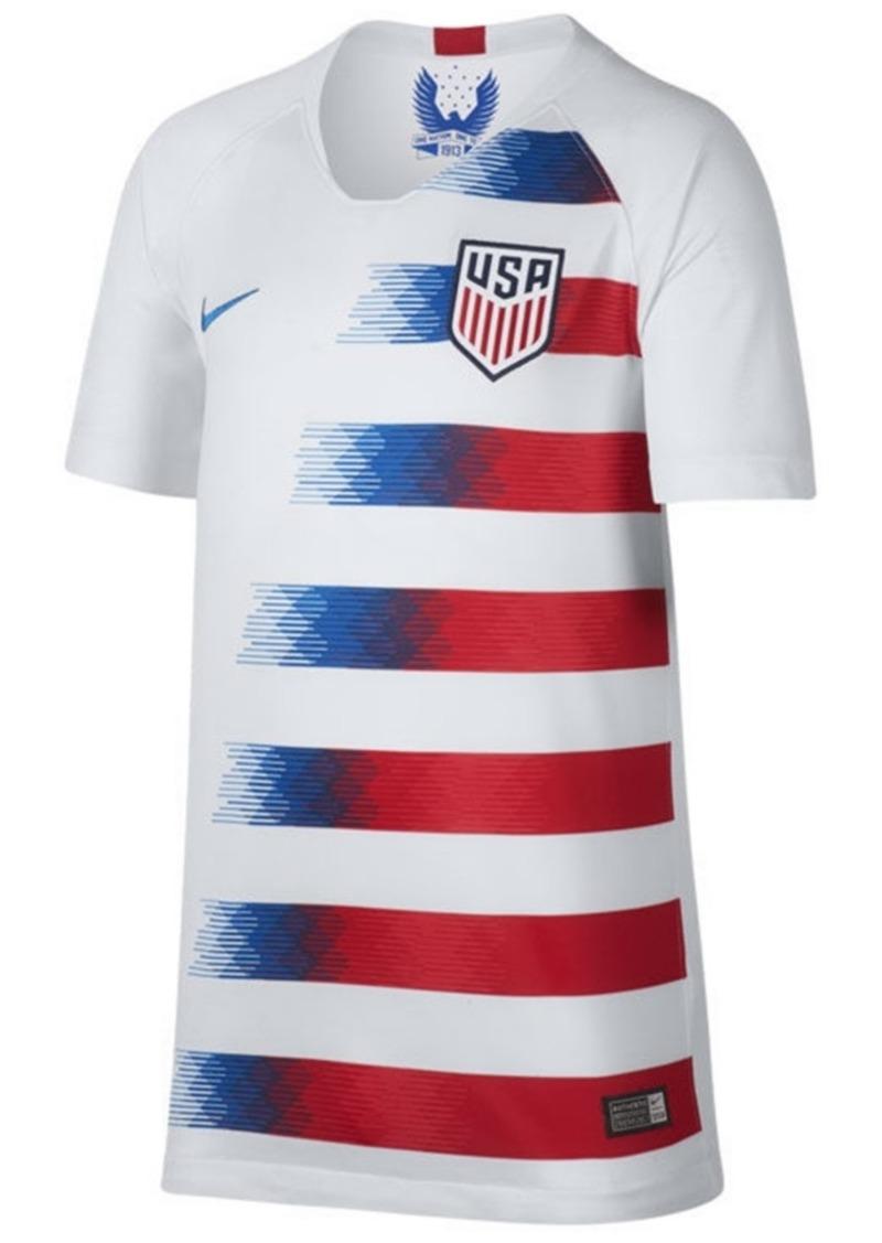 adidas Usa National Team Home Stadium Jersey, Big Boys (8-20)
