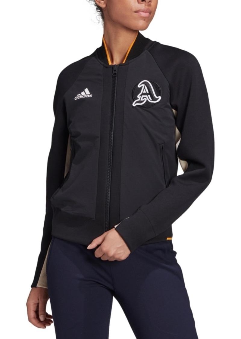 adidas Women's Varsity Colorblocked Bomber Jacket