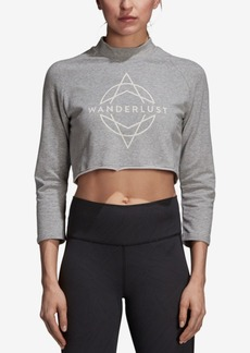 adidas Wanderlust Graphic Long-Sleeve Cropped T-Shirt