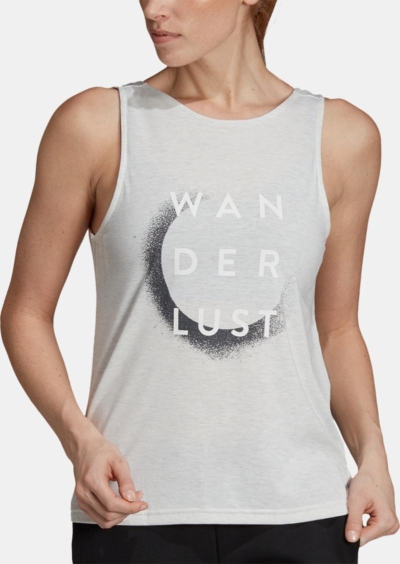adidas Wanderlust Low-Back Graphic Tank Top